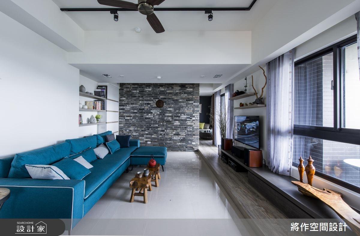27坪新成屋(5年以下)_混搭風客廳案例圖片_將作空間設計工作室_將作_15之16