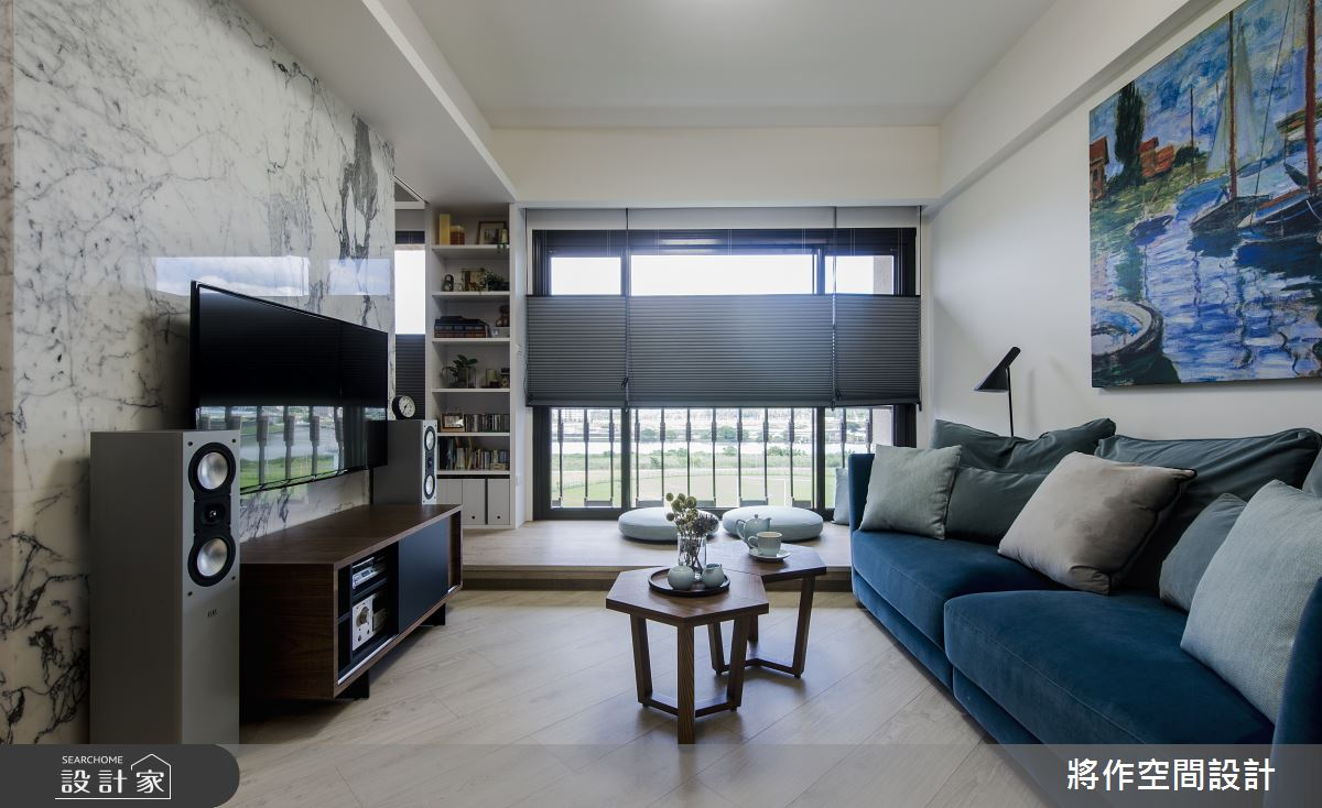 22坪新成屋(5年以下)_現代簡約風客廳臥榻案例圖片_將作空間設計工作室_將作_21之3
