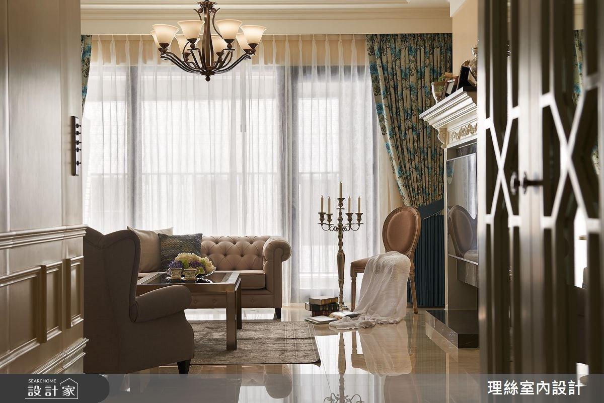 53坪預售屋_新古典客廳案例圖片_理絲室內設計有限公司_理絲_11之3