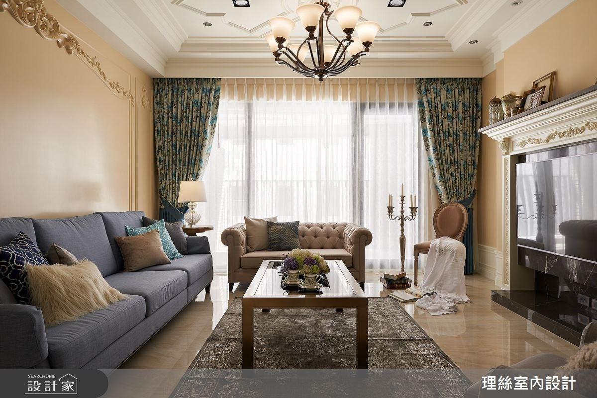 53坪預售屋_新古典客廳案例圖片_理絲室內設計有限公司_理絲_11之4