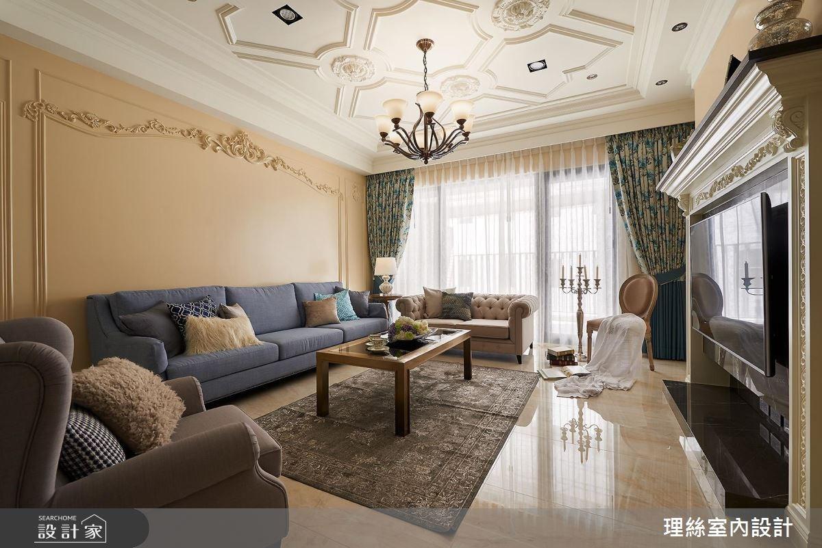 53坪預售屋_新古典客廳案例圖片_理絲室內設計有限公司_理絲_11之5