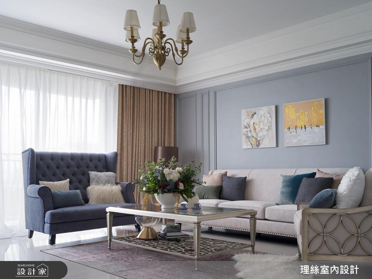 43坪新成屋(5年以下)_新古典客廳案例圖片_理絲室內設計有限公司_理絲_13之2
