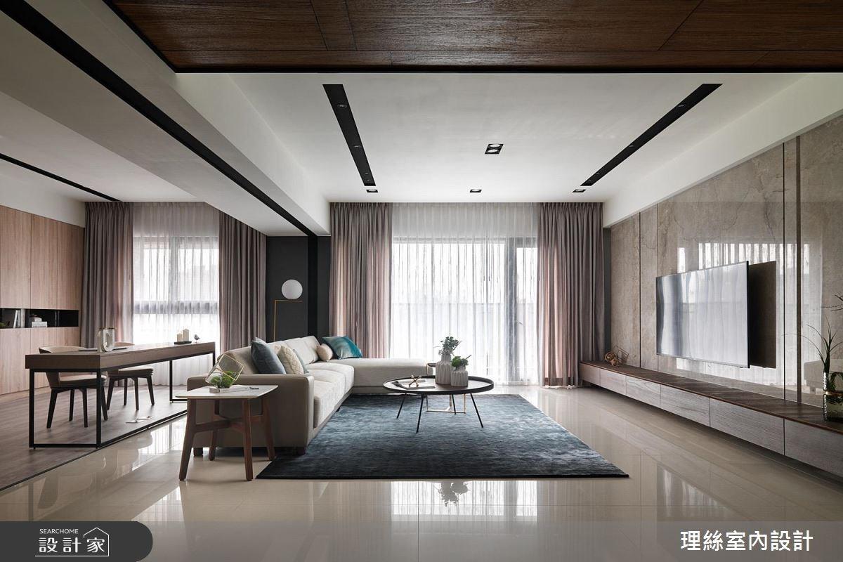 50坪新成屋(5年以下)_現代風客廳案例圖片_理絲室內設計有限公司_理絲_16之3