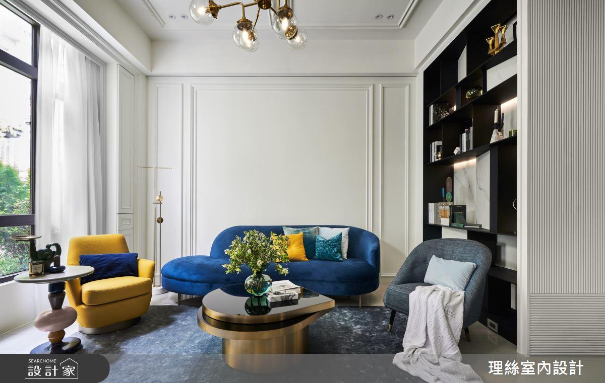 35坪新成屋(5年以下)_新古典客廳案例圖片_理絲室內設計有限公司_理絲_20之2