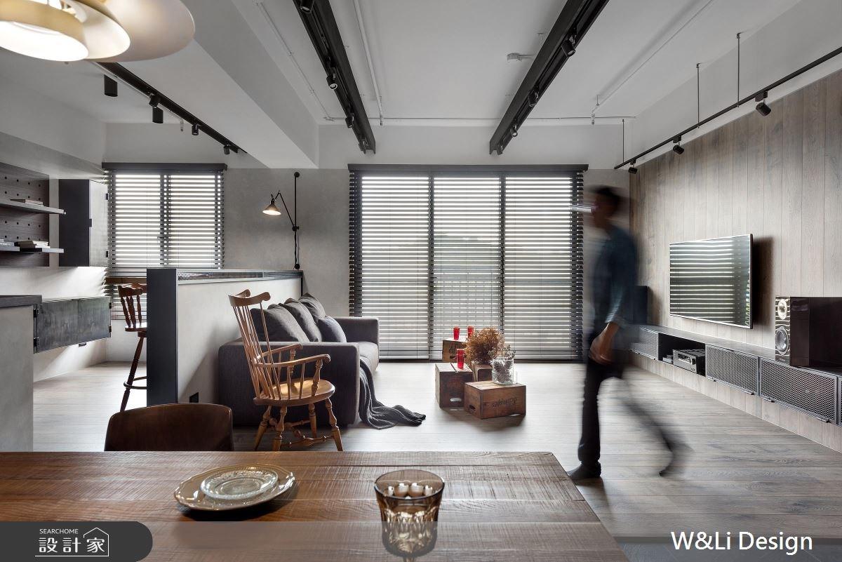 35坪新成屋(5年以下)_混搭風客廳案例圖片_W&Li Design  十穎設計有限公司_十穎_07之1
