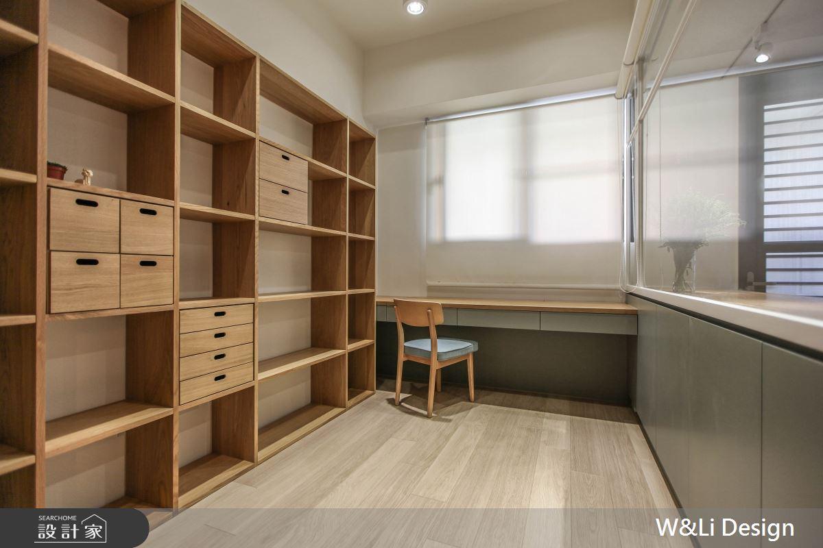 20坪新成屋(5年以下)_日式無印風書房案例圖片_W&Li Design  十穎設計有限公司_十穎_11之10