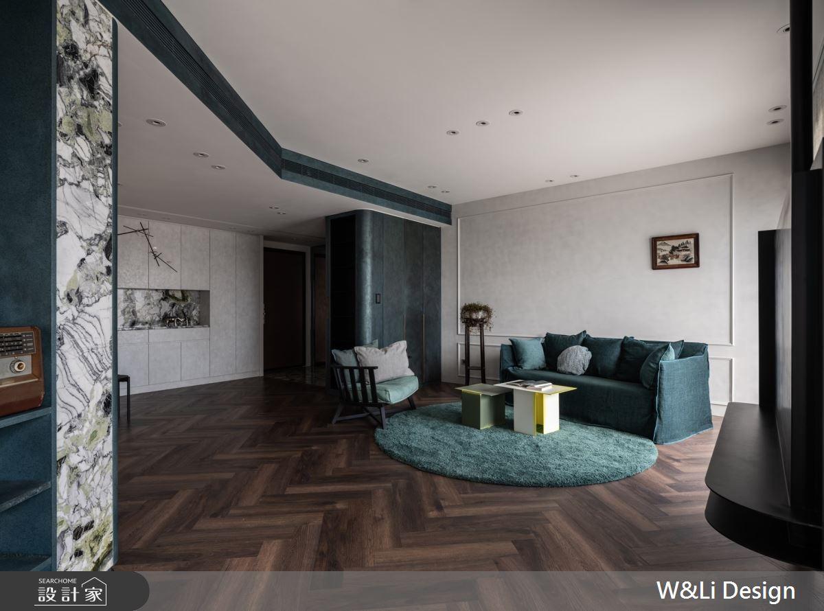 32坪新成屋(5年以下)_混搭風玄關客廳案例圖片_W&Li Design  十穎設計有限公司_十穎_14之1
