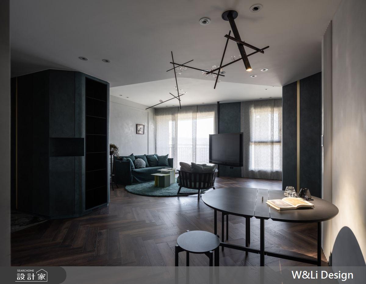 32坪新成屋(5年以下)_混搭風玄關客廳餐廳案例圖片_W&Li Design  十穎設計有限公司_十穎_14之4