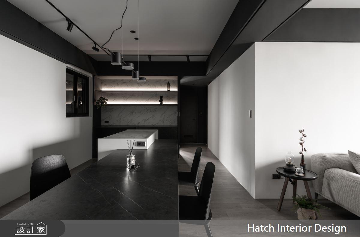 27坪新成屋(5年以下)_現代風餐廳中島案例圖片_合砌設計有限公司_合砌_非黑即白之3