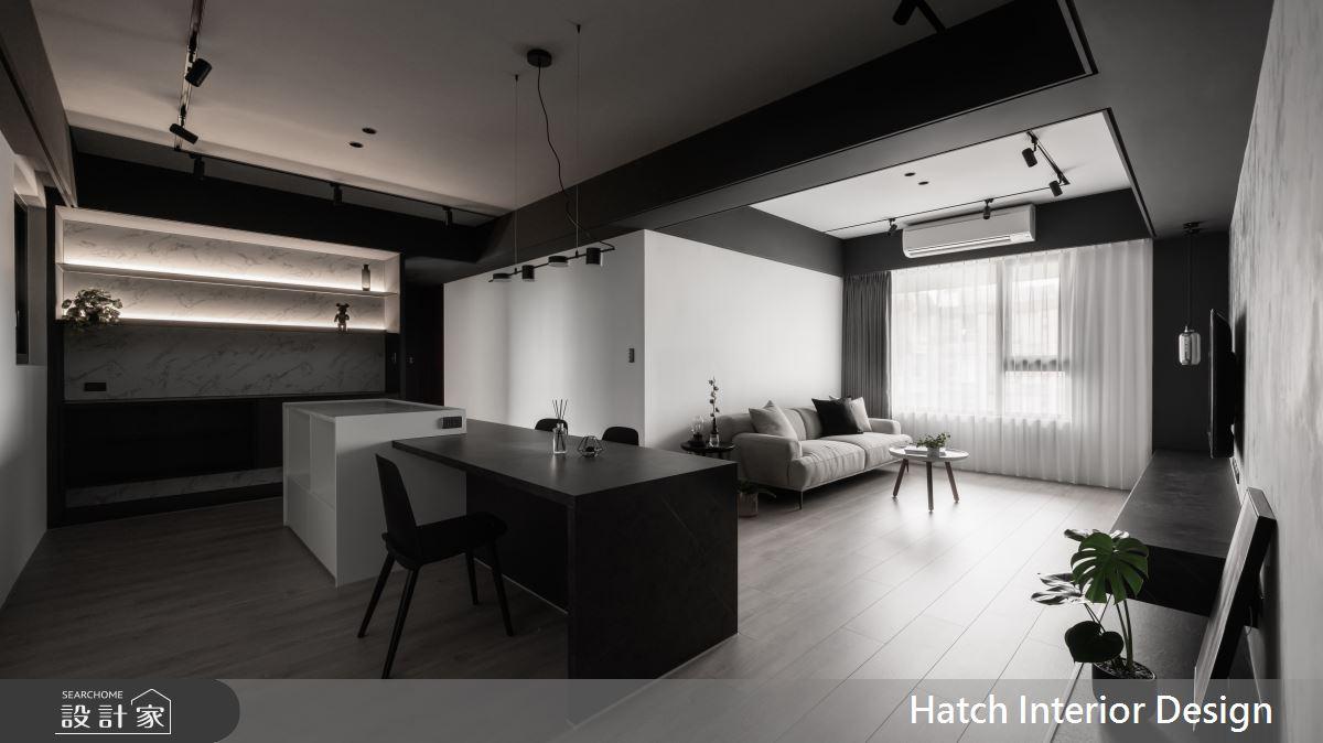 27坪新成屋(5年以下)_現代風餐廳案例圖片_合砌設計有限公司_合砌_非黑即白之2
