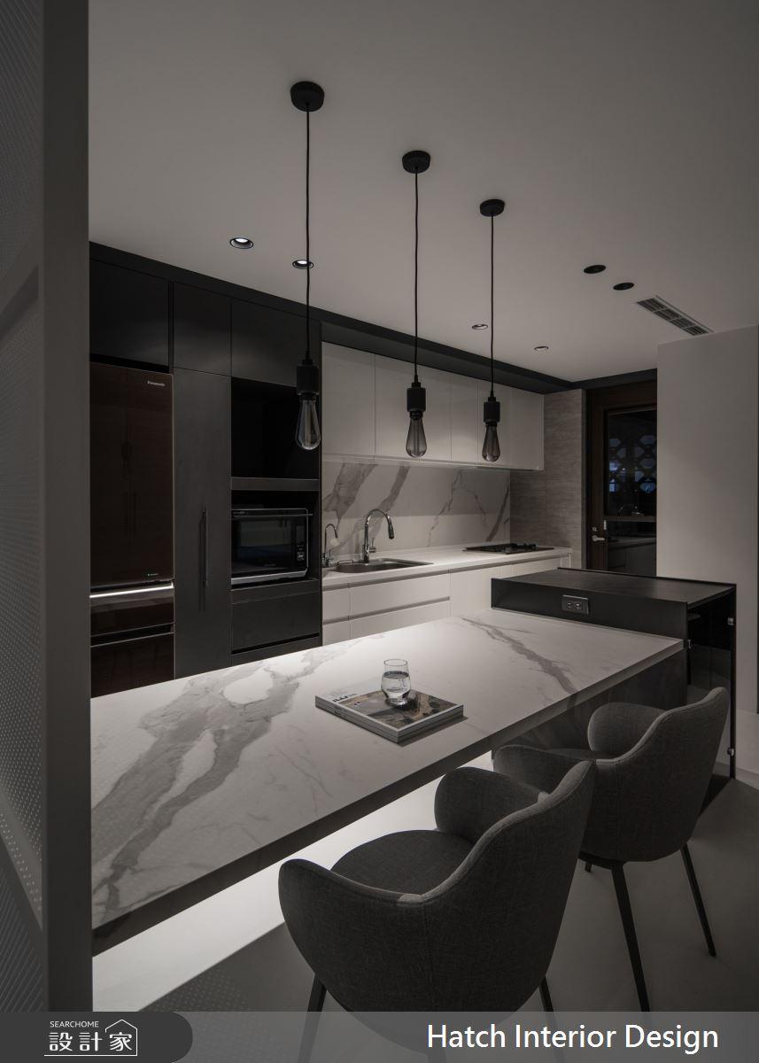 27坪中古屋(5~15年)_現代風餐廳案例圖片_合砌設計有限公司_合砌_黑即是彩之3