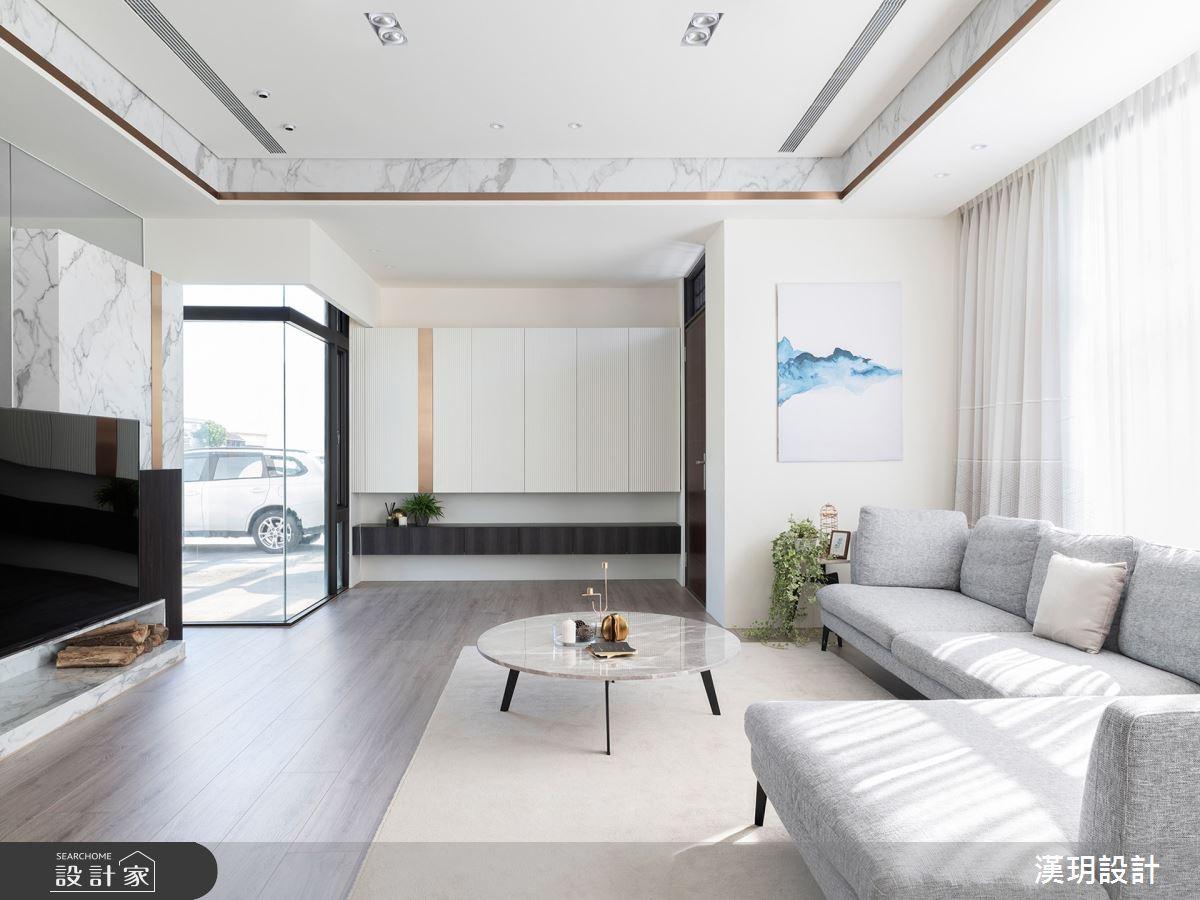 57坪新成屋(5年以下)_簡約風客廳案例圖片_漢玥室內裝修設計有限公司_漢玥_09之2