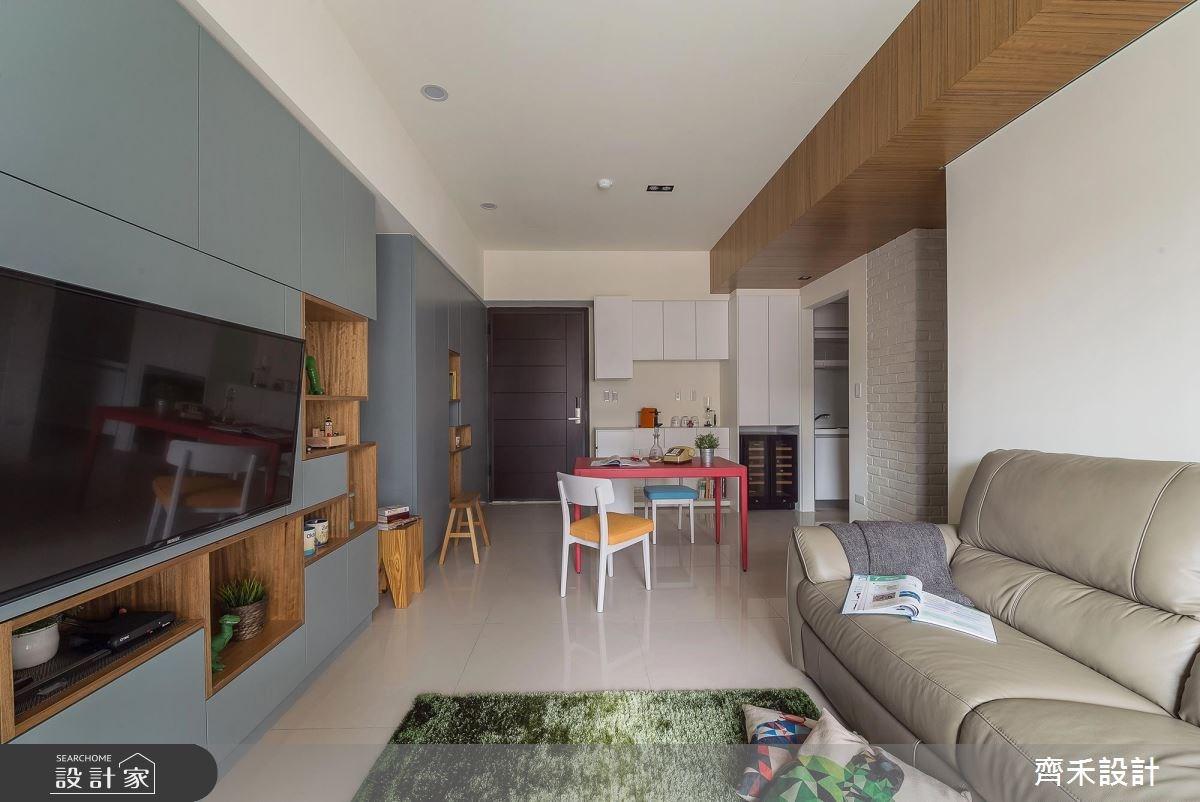 22坪新成屋(5年以下)_北歐風客廳案例圖片_齊禾設計有限公司_齊禾_16之7