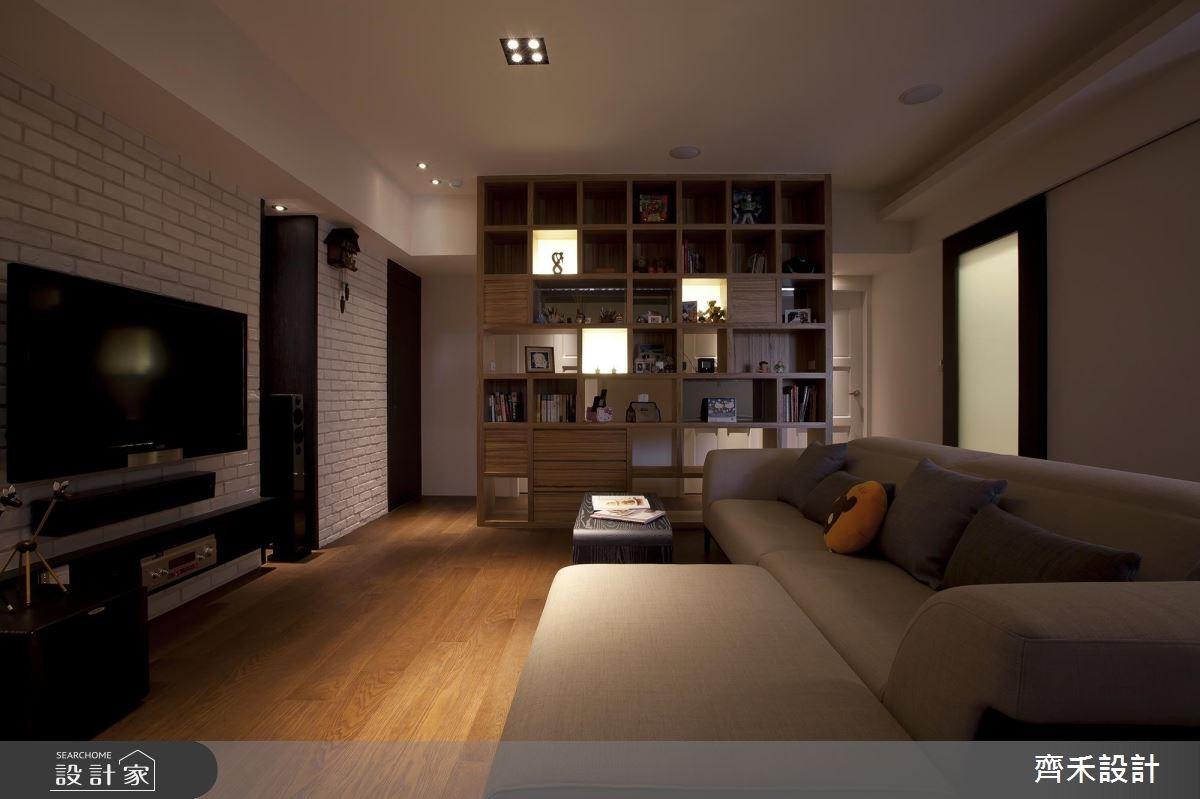 40坪新成屋(5年以下)_現代風客廳案例圖片_齊禾設計有限公司_齊禾_08之3