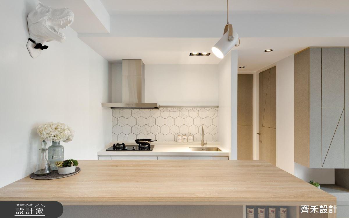 16坪中古屋(5~15年)_北歐風廚房案例圖片_齊禾設計有限公司_齊禾_17之8