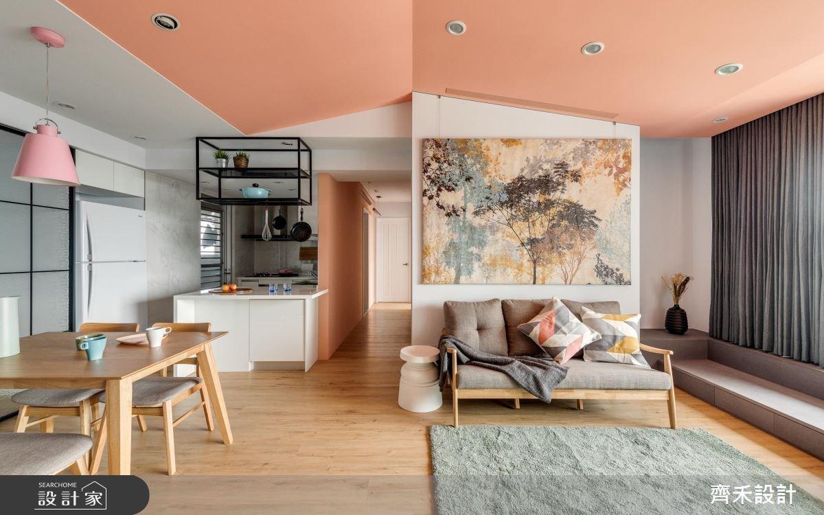 35坪新成屋(5年以下)_休閒風客廳案例圖片_齊禾設計有限公司_齊禾_20之3