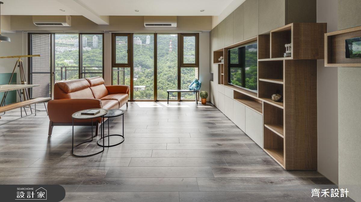 40坪新成屋(5年以下)_混搭風客廳案例圖片_齊禾設計有限公司_齊禾_21之3