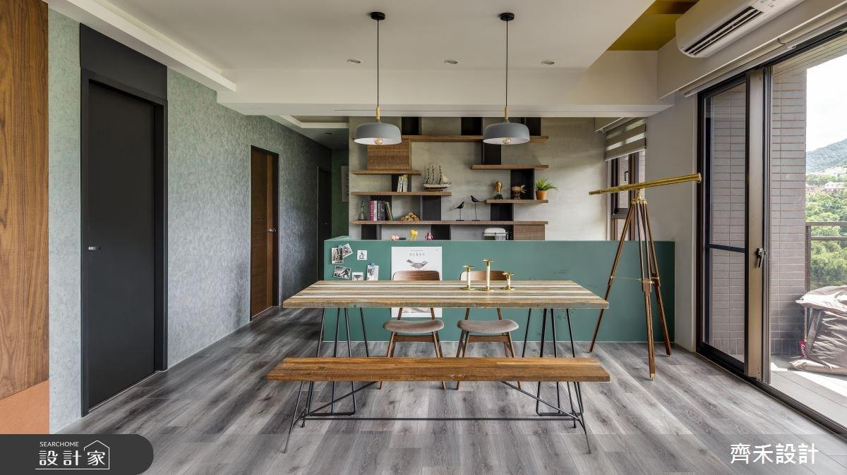 40坪新成屋(5年以下)_混搭風餐廳案例圖片_齊禾設計有限公司_齊禾_21之4