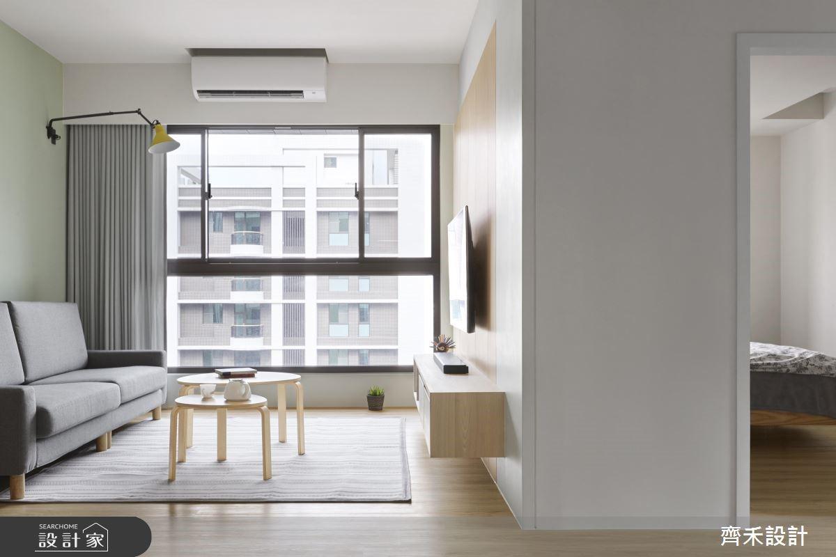 24坪新成屋(5年以下)_簡約風客廳案例圖片_齊禾設計有限公司_齊禾_22之4