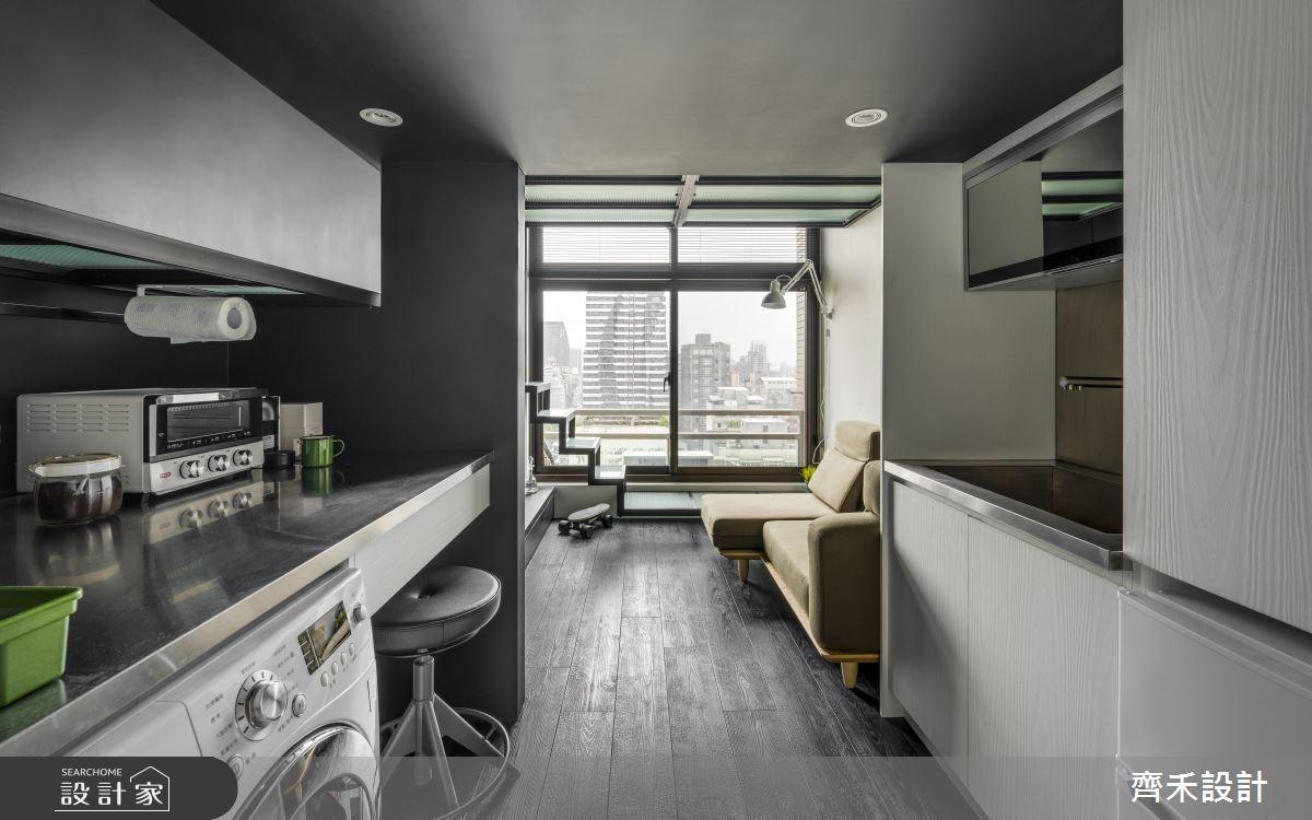 5坪老屋(16~30年)_工業風廚房案例圖片_齊禾設計有限公司_齊禾_27之1