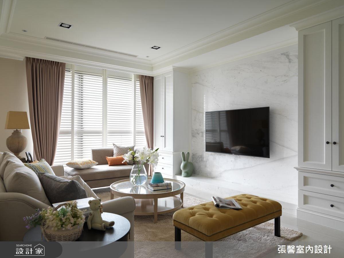 56坪新成屋(5年以下)_美式風客廳案例圖片_瀚觀室內裝修設計工程股份有限公司_張馨_04之2