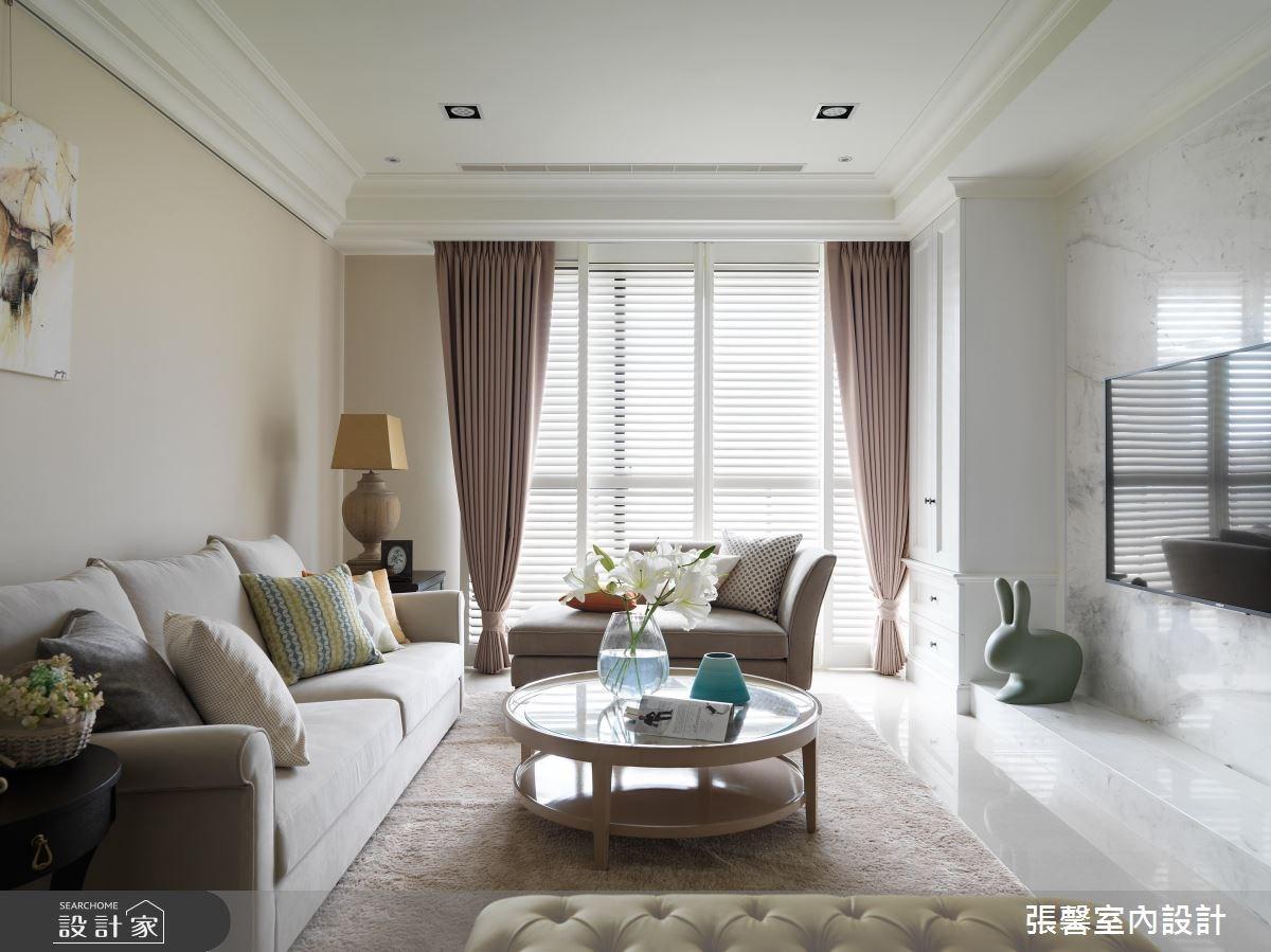 56坪新成屋(5年以下)_美式風客廳案例圖片_瀚觀室內裝修設計工程股份有限公司_張馨_04之4