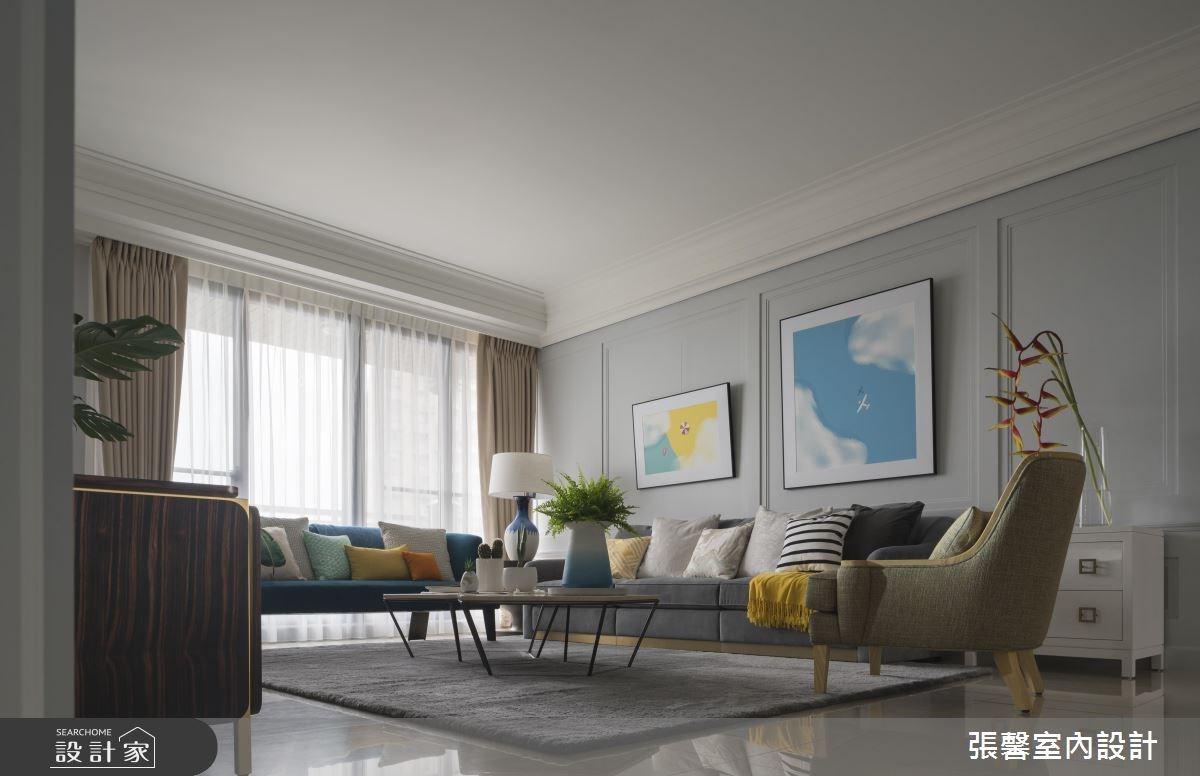 56坪新成屋(5年以下)_美式風客廳案例圖片_瀚觀室內裝修設計工程股份有限公司_張馨_07之2
