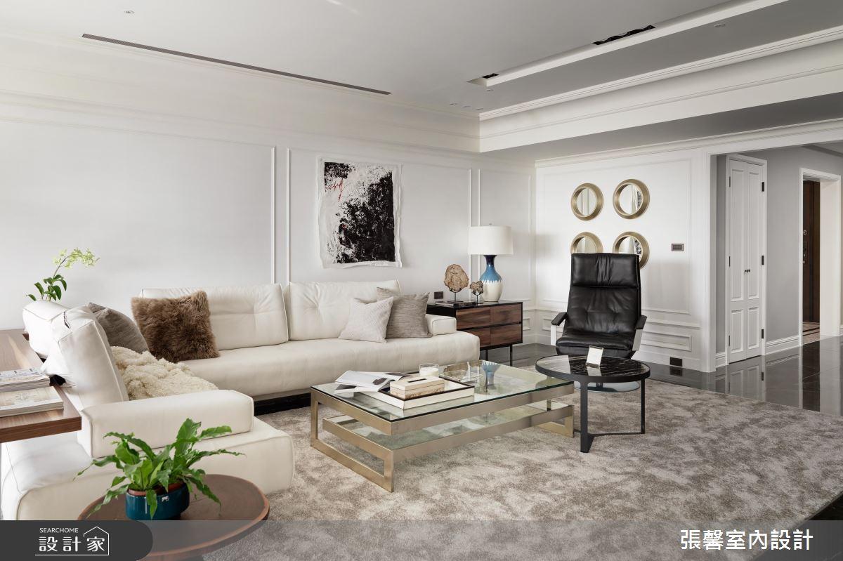 融合美式古典細節!展現 55 坪時尚現代宅的優雅風情