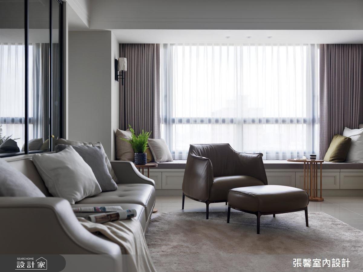 50坪預售屋_現代風客廳案例圖片_瀚觀室內裝修設計工程股份有限公司_張馨_16之2