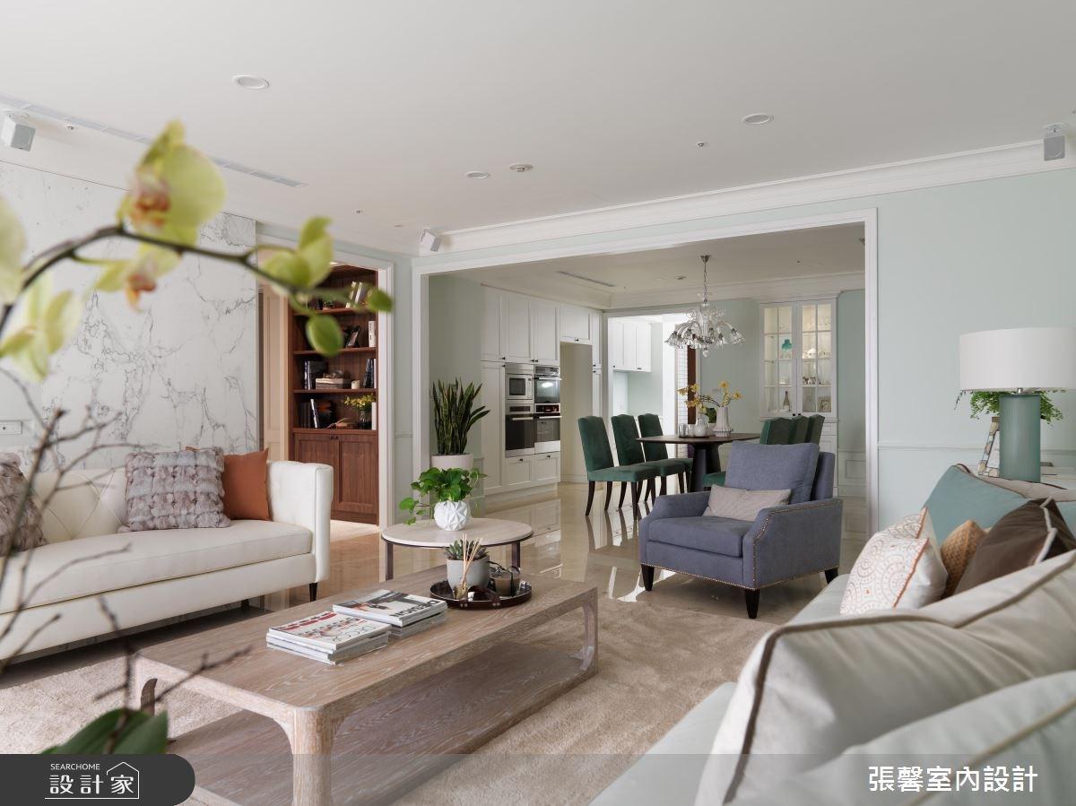 68坪新成屋(5年以下)_美式風客廳案例圖片_瀚觀室內裝修設計工程股份有限公司_張馨_17之3