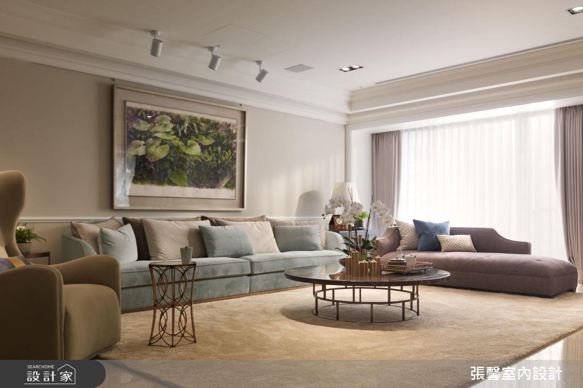 65坪新成屋(5年以下)_美式風客廳案例圖片_瀚觀室內裝修設計工程股份有限公司_張馨_18之3