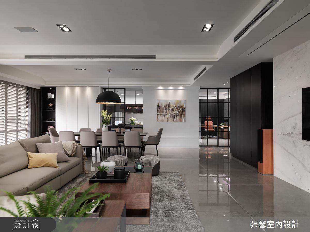 101坪新成屋(5年以下)_現代風客廳案例圖片_瀚觀室內裝修設計工程股份有限公司_張馨_29之3