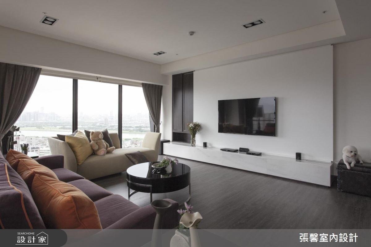 46坪新成屋(5年以下)_美式風客廳案例圖片_瀚觀室內裝修設計工程股份有限公司_張馨_47之3