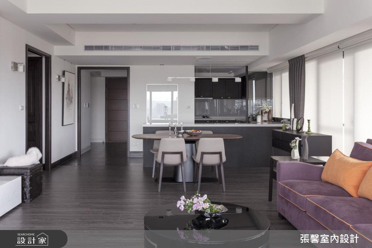 46坪新成屋(5年以下)_美式風客廳餐廳案例圖片_瀚觀室內裝修設計工程股份有限公司_張馨_47之4