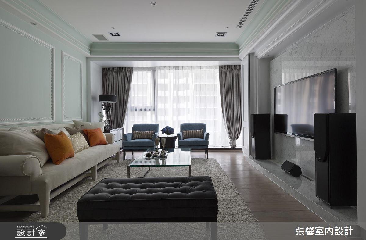 40坪新成屋(5年以下)_美式風客廳案例圖片_瀚觀室內裝修設計工程股份有限公司_張馨_58之5