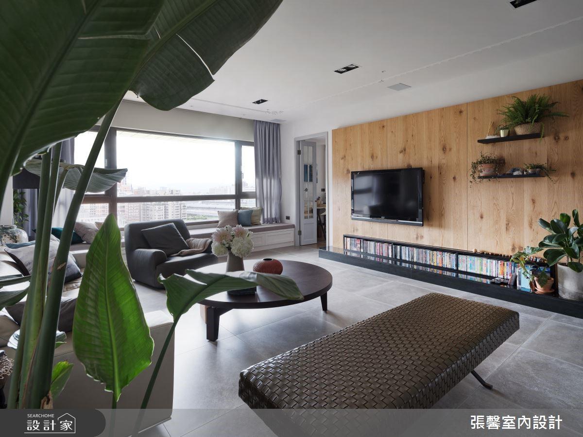 67坪預售屋_混搭風客廳臥榻案例圖片_瀚觀室內裝修設計工程股份有限公司_張馨_74之2