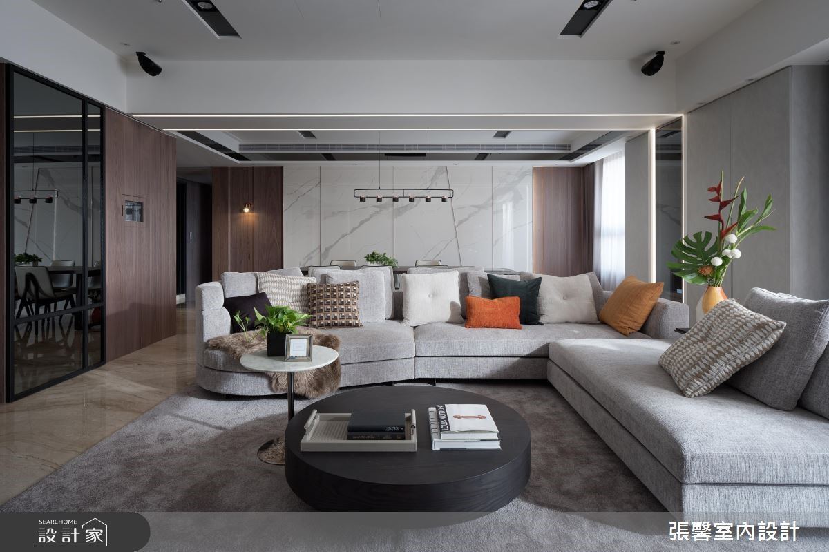 47坪新成屋(5年以下)_混搭風客廳案例圖片_瀚觀室內裝修設計工程股份有限公司_張馨_76之3
