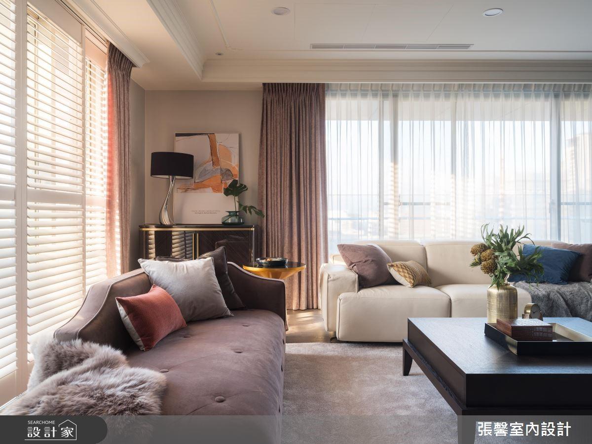 43坪新成屋(5年以下)_現代風客廳案例圖片_瀚觀室內裝修設計工程股份有限公司_張馨_77之2