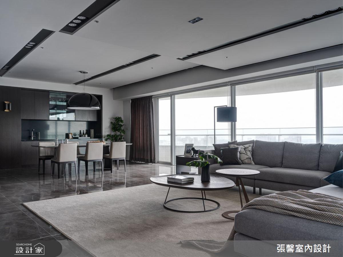 73坪新成屋(5年以下)_現代風客廳案例圖片_瀚觀室內裝修設計工程股份有限公司_張馨_86之5