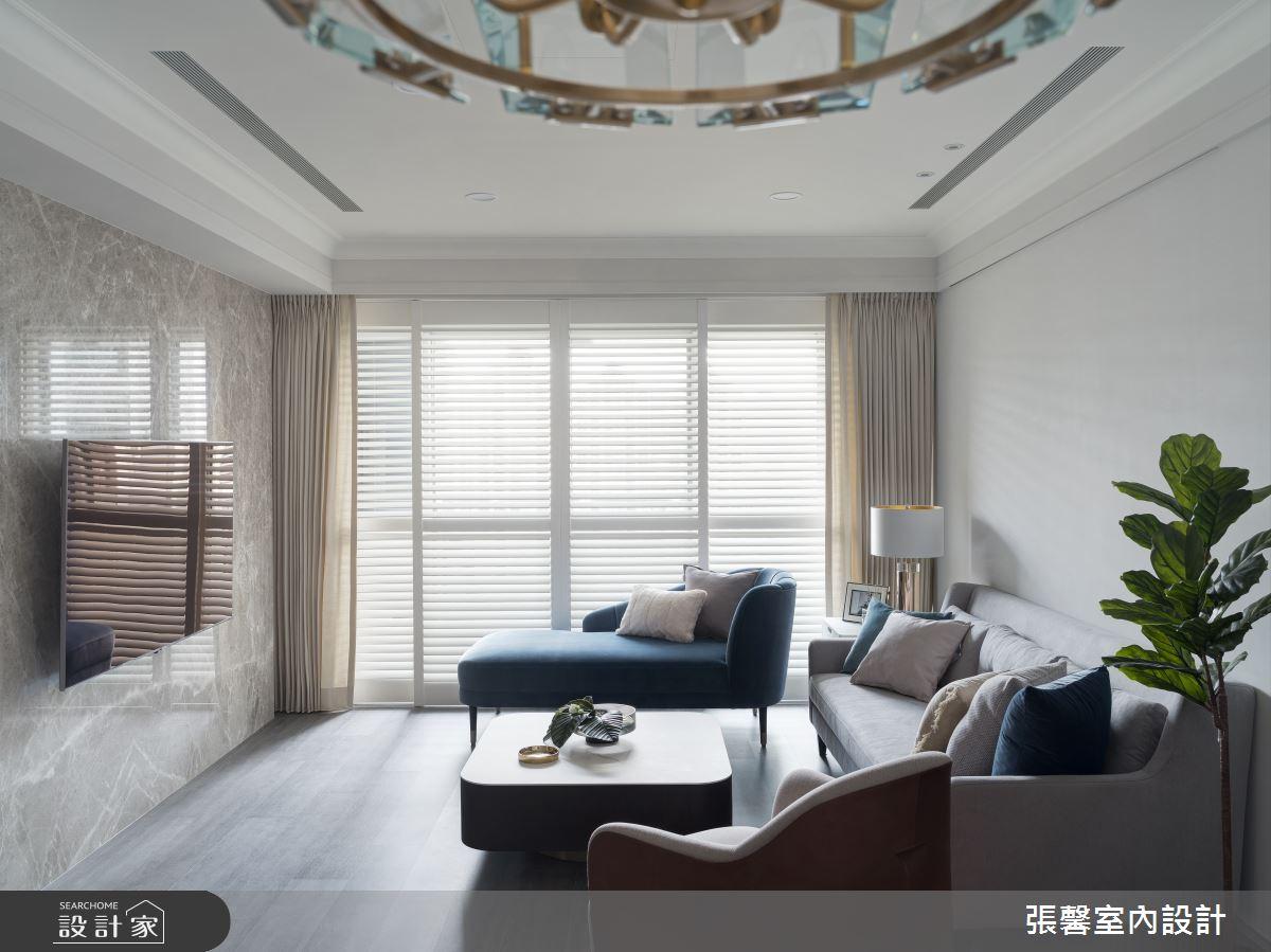 37坪預售屋_美式風客廳案例圖片_瀚觀室內裝修設計工程股份有限公司_張馨_91之3