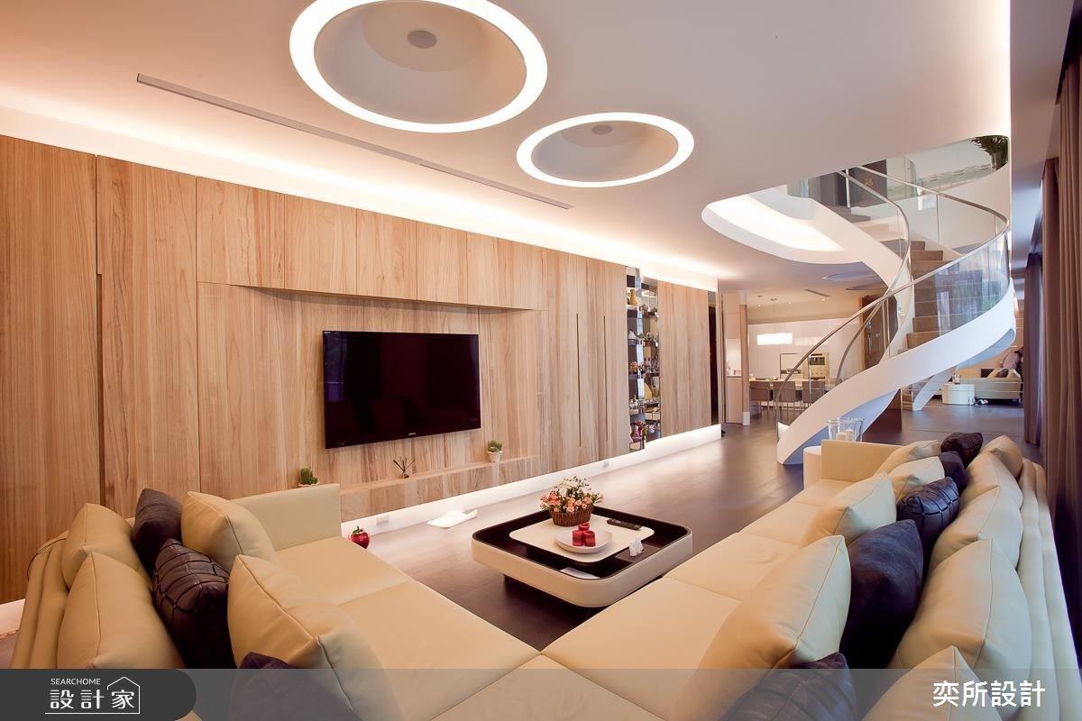 140坪新成屋(5年以下)_現代風客廳案例圖片_奕所設計_奕所_02之2