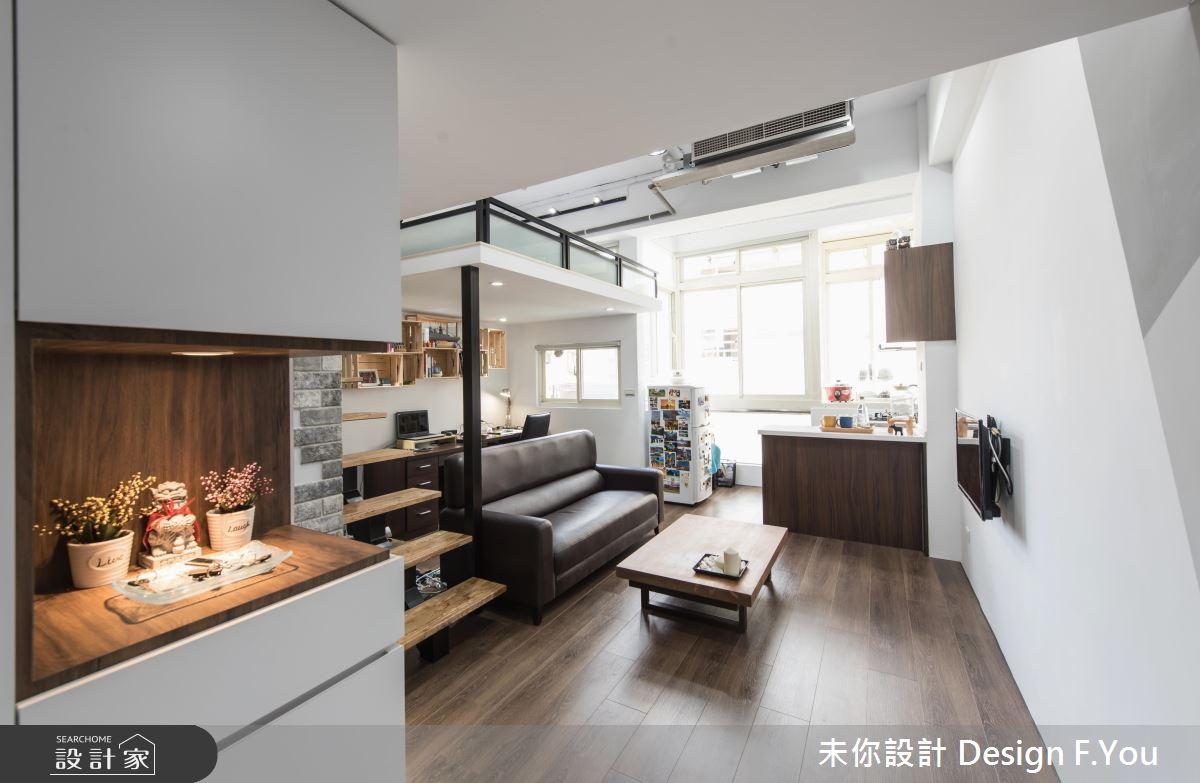 百萬打造豪邁小宅!9 坪夾層,1 房 1 廳還有更衣間+書房