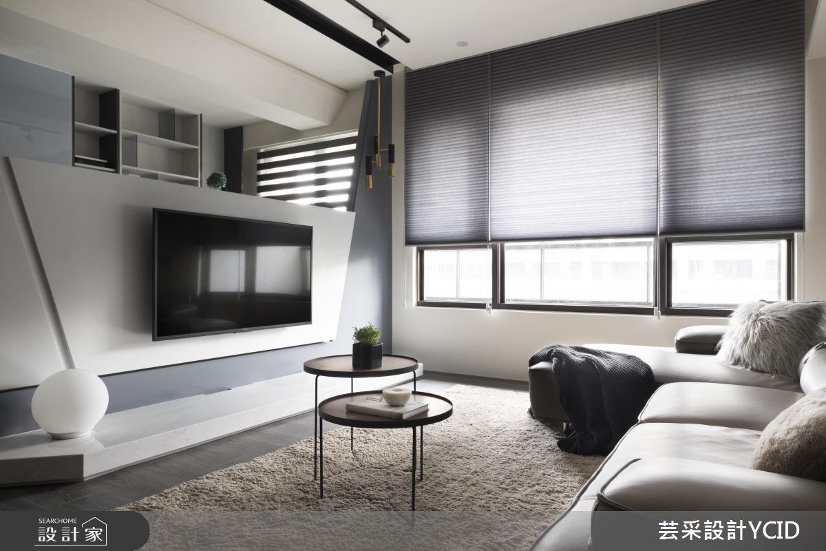 31坪新成屋(5年以下)_現代風客廳案例圖片_芸采創意空間設計公司_芸采_02之3