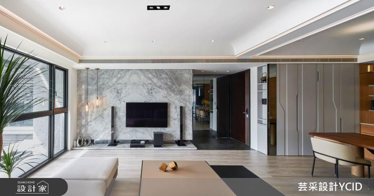 35坪新成屋(5年以下)_混搭風客廳案例圖片_芸采創意空間設計公司_芸采_12之3