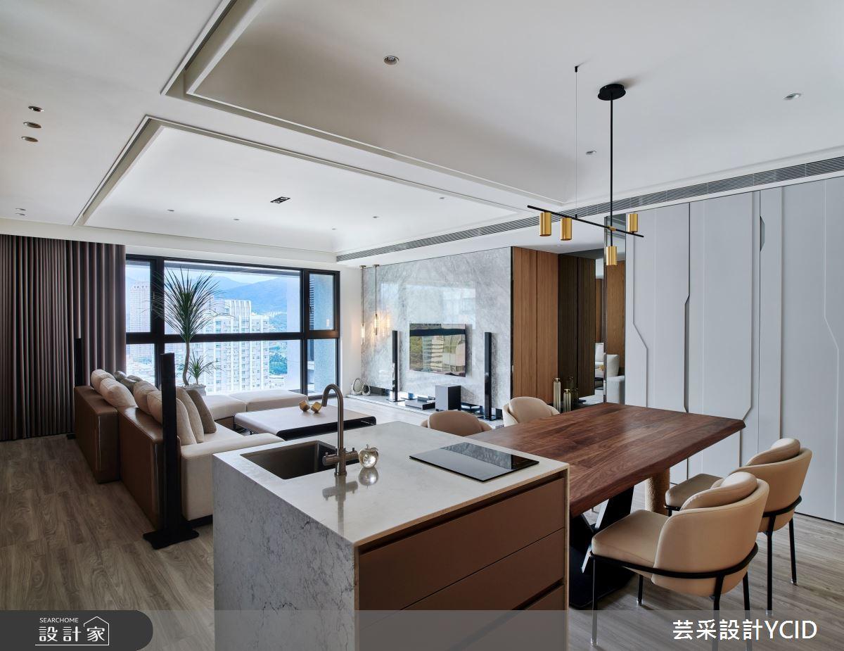 35坪新成屋(5年以下)_混搭風餐廳吧檯案例圖片_芸采創意空間設計公司_芸采_12之5