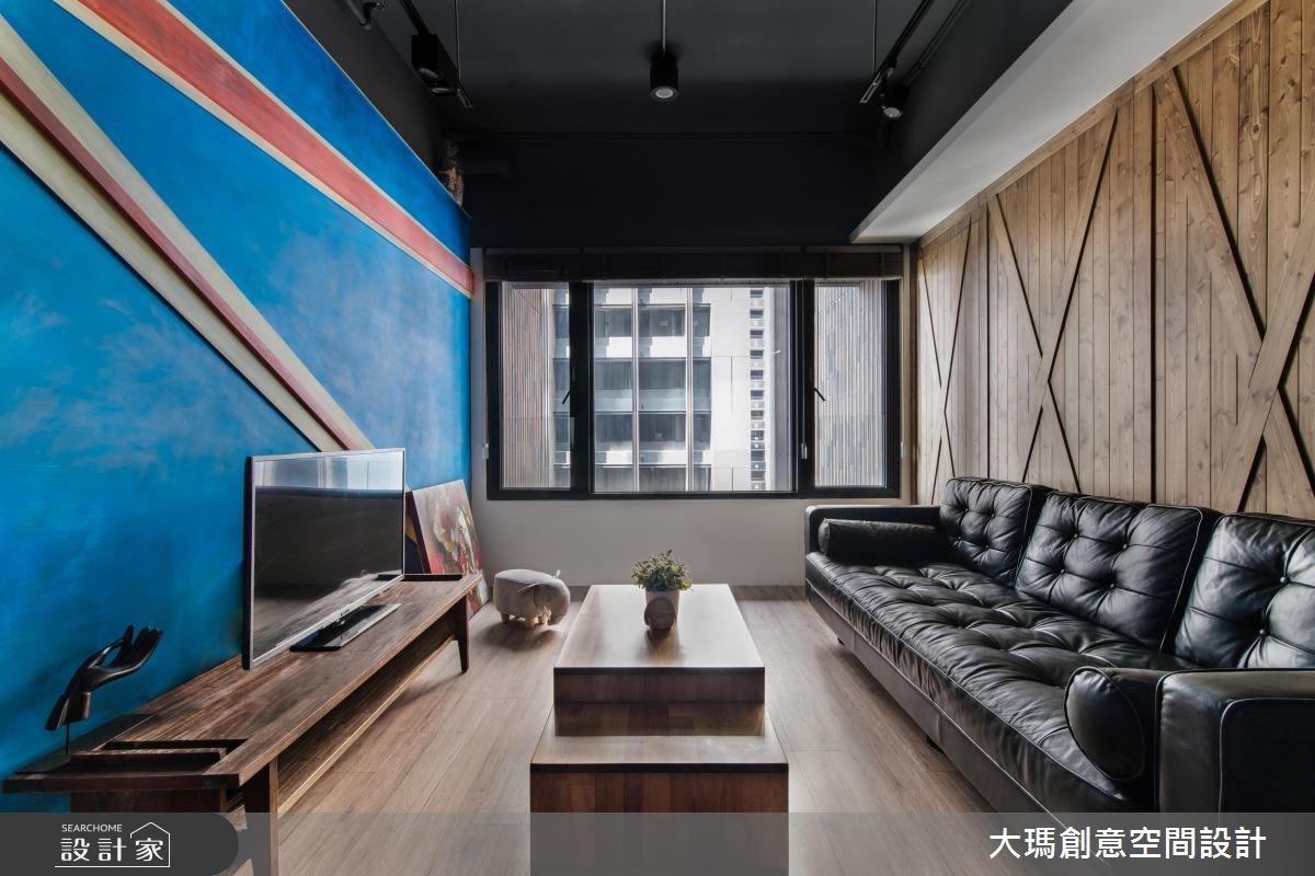18坪新成屋(5年以下)_工業風客廳案例圖片_大瑪創意空間設計有限公司_大瑪_05之1