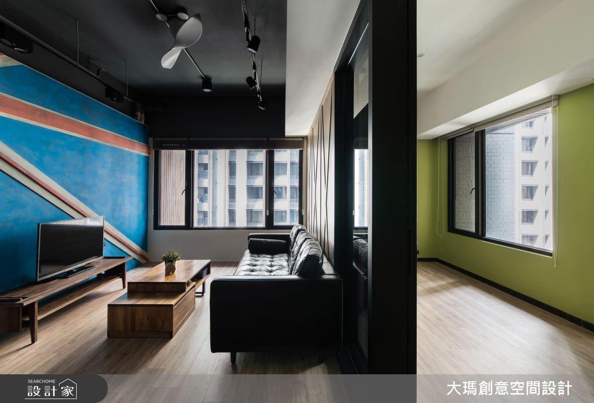 18坪新成屋(5年以下)_工業風客廳案例圖片_大瑪創意空間設計有限公司_大瑪_05之3