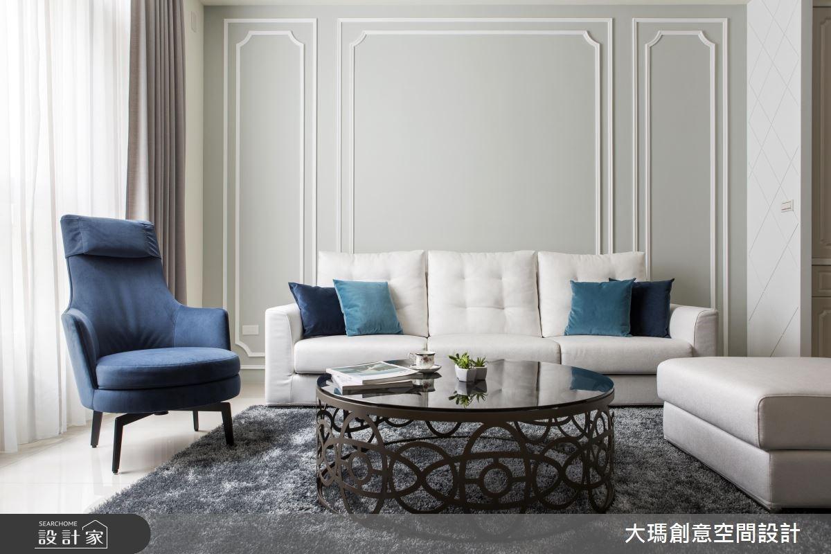 46坪新成屋(5年以下)_新古典客廳案例圖片_大瑪創意空間設計有限公司_大瑪_07之3