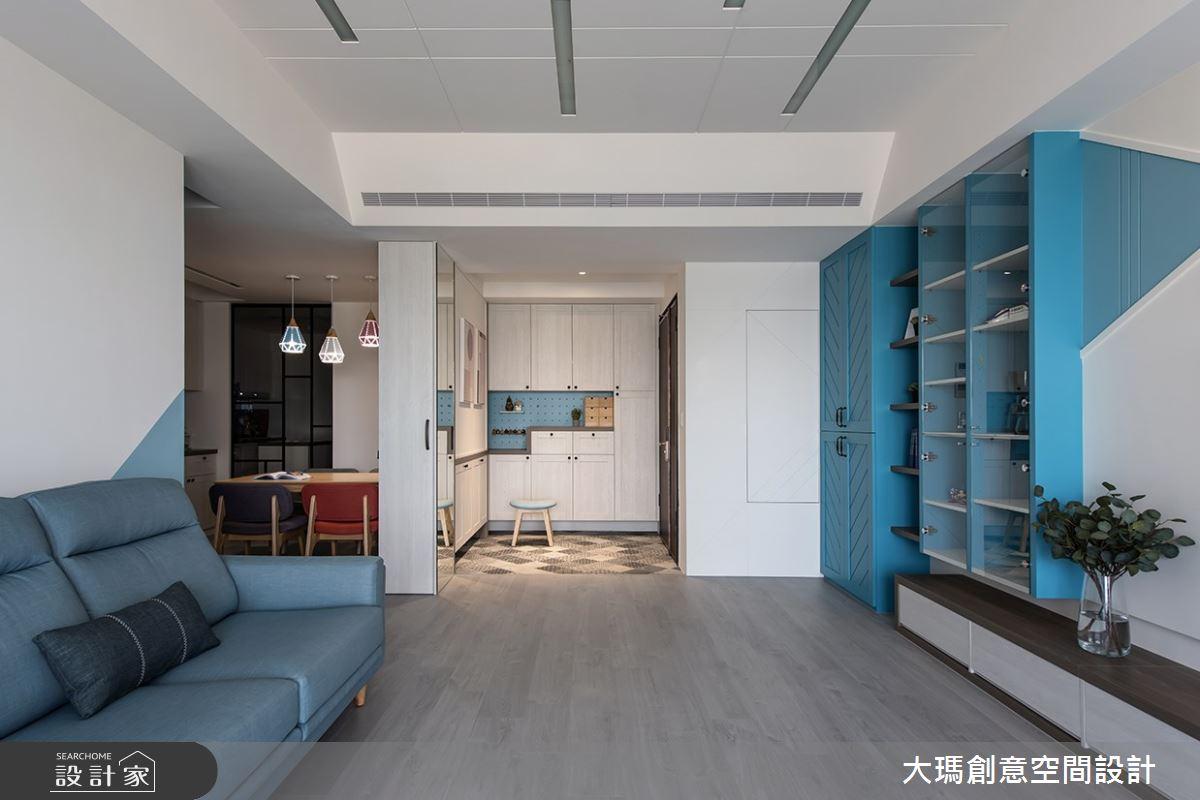 35坪新成屋(5年以下)_混搭風玄關客廳案例圖片_大瑪創意空間設計有限公司_大瑪_12之6