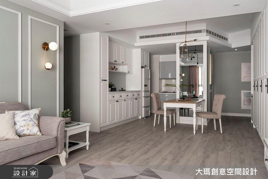 32坪新成屋(5年以下)_新古典客廳餐廳案例圖片_大瑪創意空間設計有限公司_大瑪_15之2